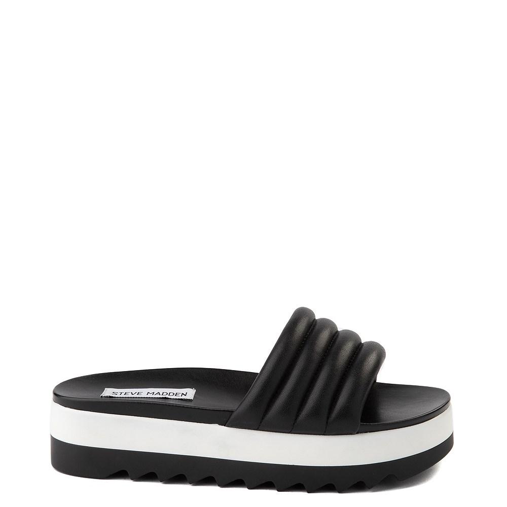 Womens Steve Madden Lazaro Platform Slide Sandal - Black