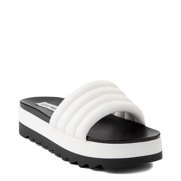 alternate view Womens Steve Madden Lazaro Platform Slide Sandal - WhiteALT1