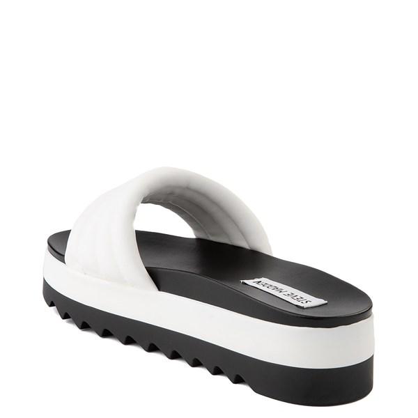alternate view Womens Steve Madden Lazaro Platform Slide Sandal - WhiteALT2