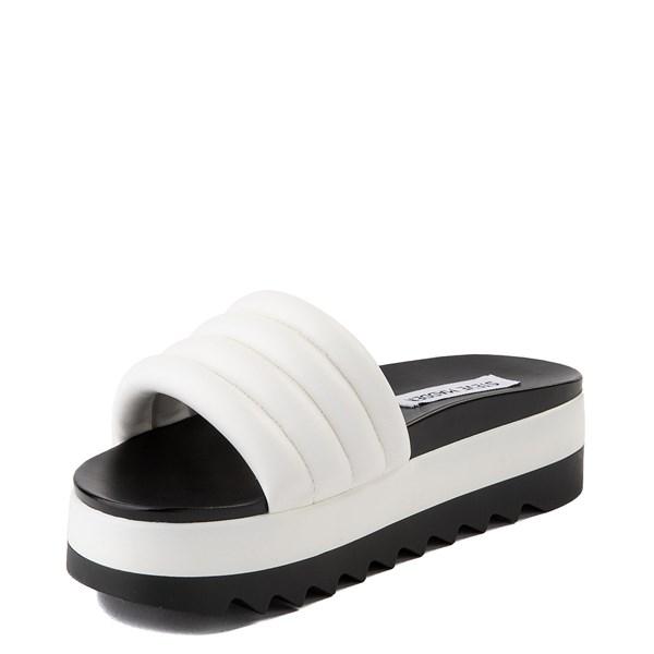 alternate view Womens Steve Madden Lazaro Platform Slide Sandal - WhiteALT3