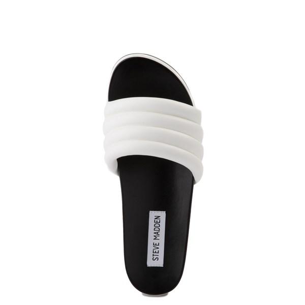 alternate view Womens Steve Madden Lazaro Platform Slide Sandal - WhiteALT4B