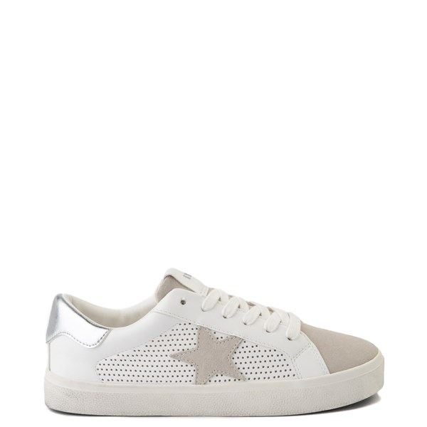 Womens Steve Madden Philip Casual Shoe - White / Silver