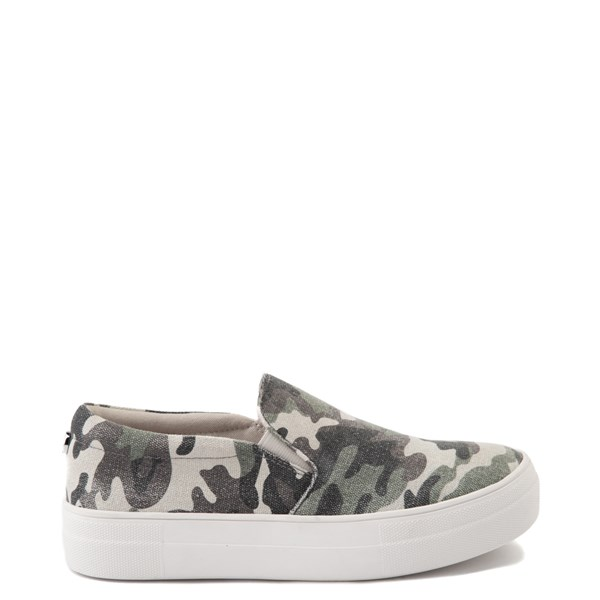 Womens Steve Madden Gills-C Slip On Platform Casual Shoe - Camo