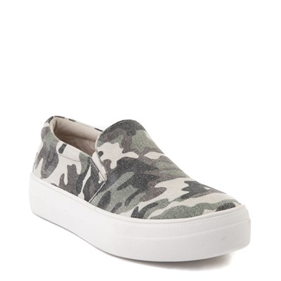 Alternate view of Womens Steve Madden Gills-C Slip On Platform Casual Shoe - Camo