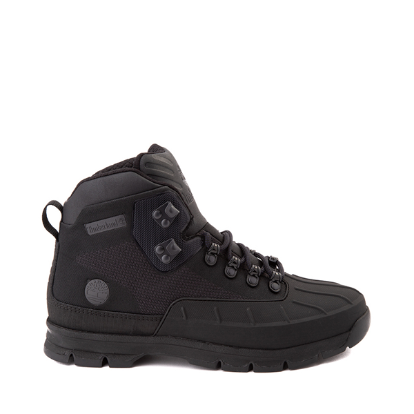 Mens Timberland Euro Hiker Shell-Toe Jacquard Boot - Black Monochrome