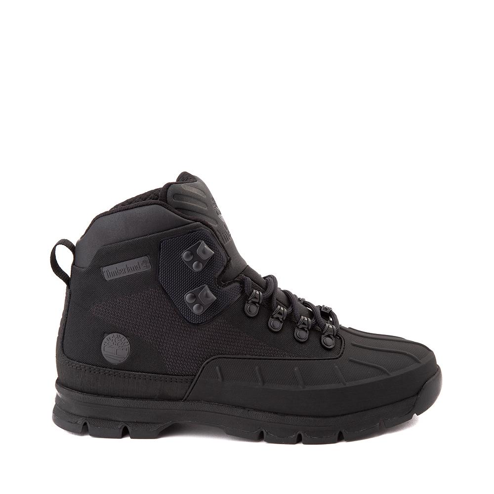 Mens Timberland Euro Hiker Shell-Toe Jacquard Boot - Black Monochrome