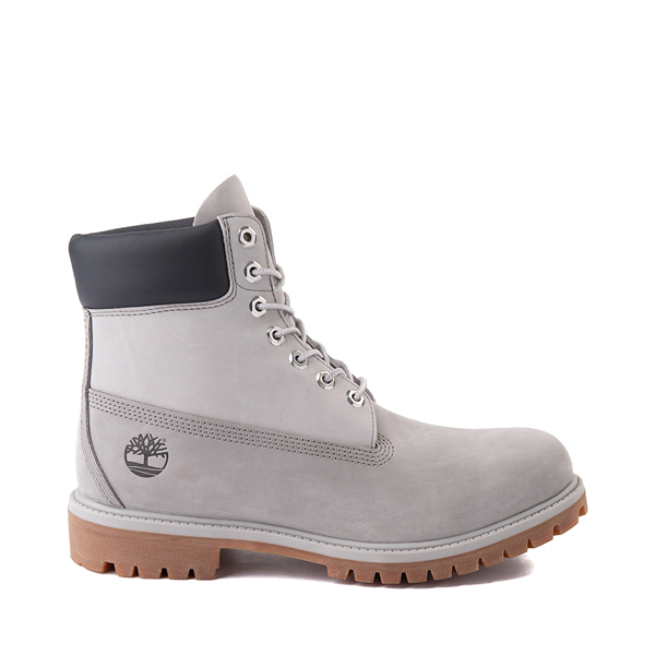 "Mens Timberland 6"" Classic Color-Block Boot - Gray / Light Gray"