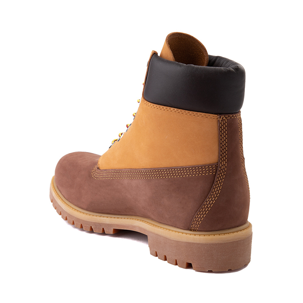 "alternate view Mens Timberland 6"" Classic Color-Block Boot - Brown / WheatALT1"