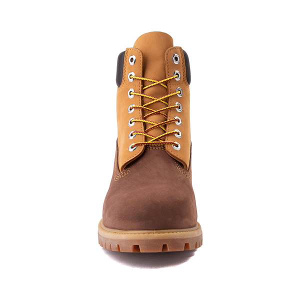 "alternate view Mens Timberland 6"" Classic Color-Block Boot - Brown / WheatALT4"