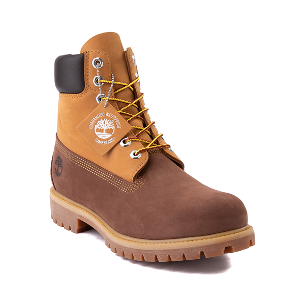 "alternate view Mens Timberland 6"" Classic Color-Block Boot - Brown / WheatALT5"