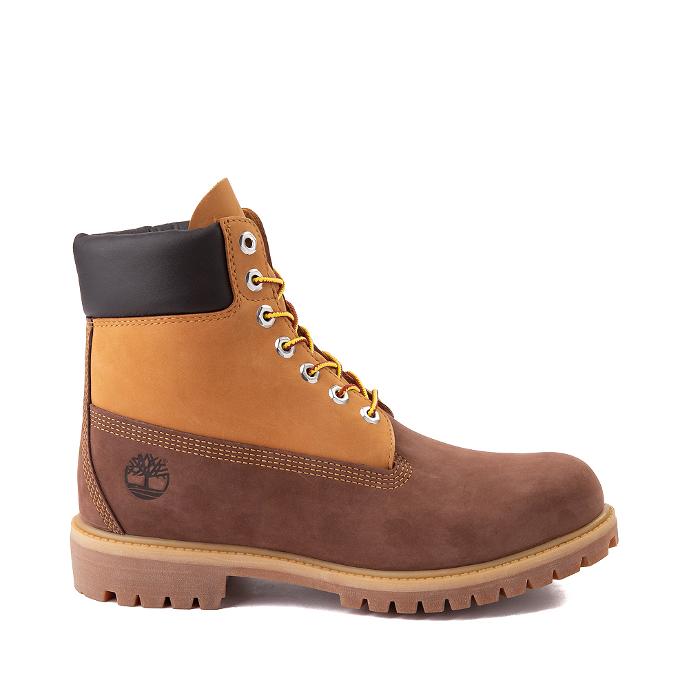 "Mens Timberland 6"" Classic Color-Block Boot - Brown / Wheat"