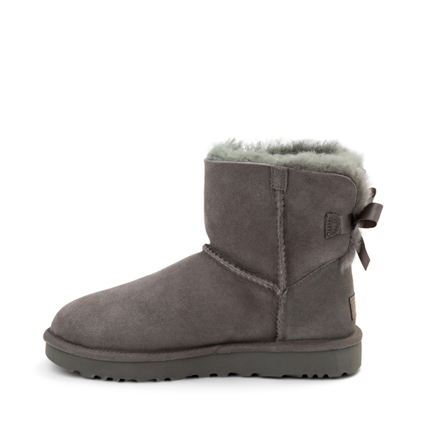 alternate view Womens UGG® Mini Bailey Bow II Boot - GrayALT1