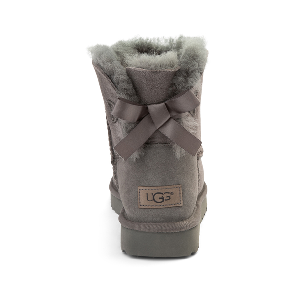 alternate view Womens UGG® Mini Bailey Bow II Boot - GrayALT4