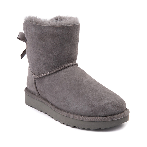 alternate view Womens UGG® Mini Bailey Bow II Boot - GrayALT5