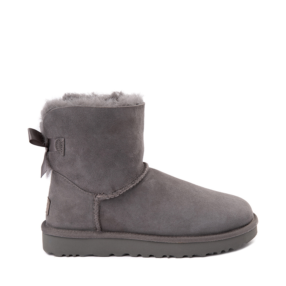 Womens UGG® Mini Bailey Bow II Boot - Gray