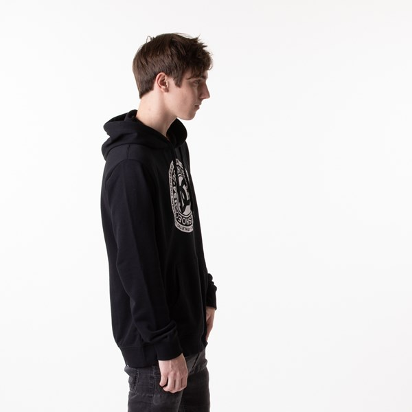 alternate view Mens DC Circle Star Hoodie - BlackALT2