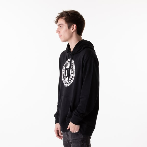 alternate view Mens DC Circle Star Hoodie - BlackALT3