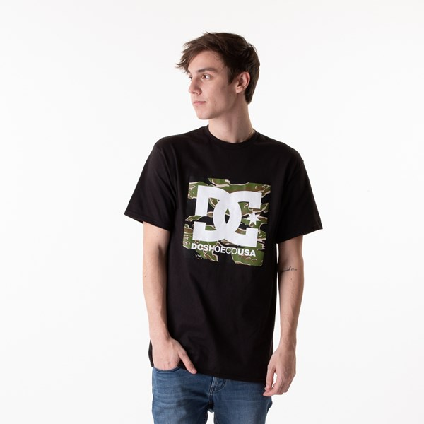 Mens DC Square Star Tee - Black / Camo