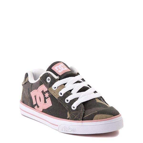 alternate view DC Chelsea TX Skate Shoe - Little Kid / Big Kid - Camo / PinkALT1
