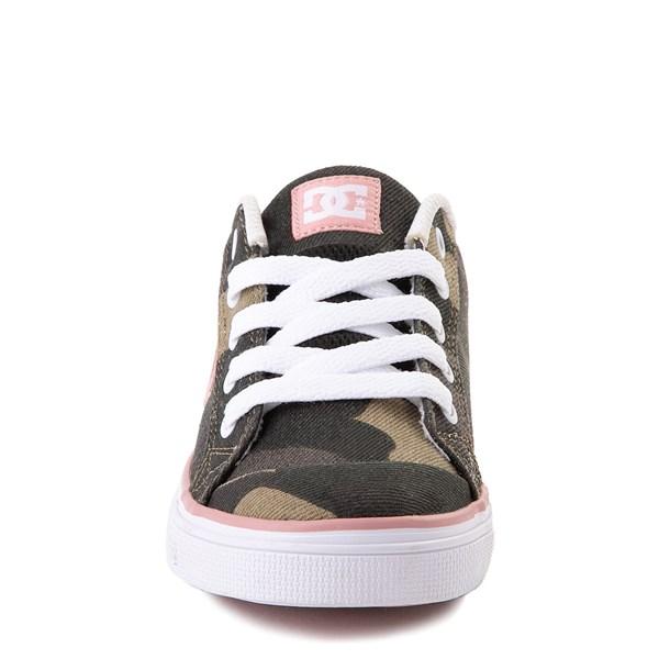 alternate view DC Chelsea TX Skate Shoe - Little Kid / Big Kid - Camo / PinkALT4
