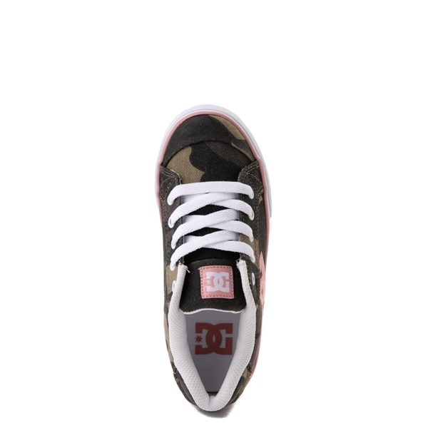 alternate view DC Chelsea TX Skate Shoe - Little Kid / Big Kid - Camo / PinkALT4b