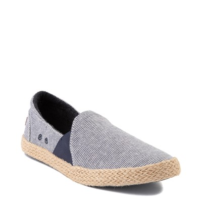 Alternate view of Womens Roxy Brayden Jute Slip On Casual Shoe - Nautical Blue