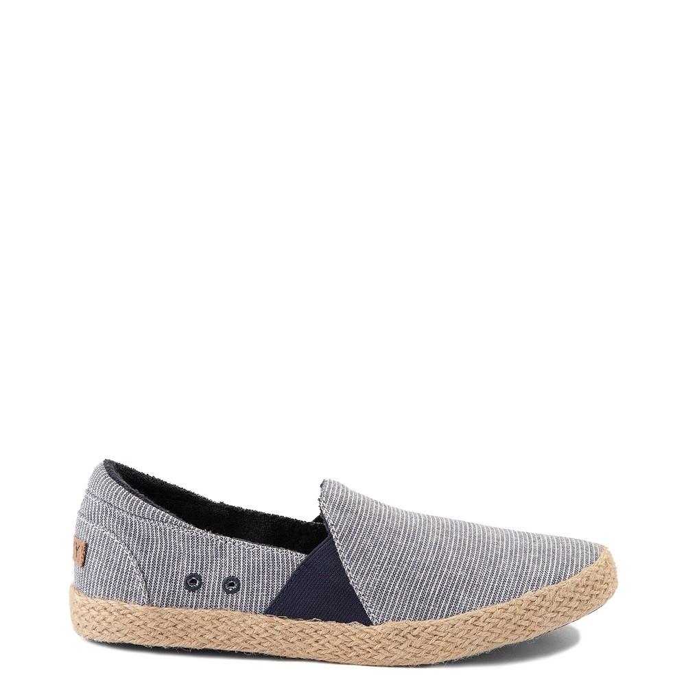 Womens Roxy Brayden Jute Slip On Casual Shoe - Nautical Blue