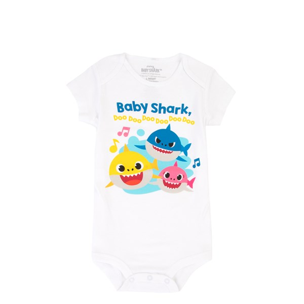 Main view of Baby Shark Snap Tee - Baby - White