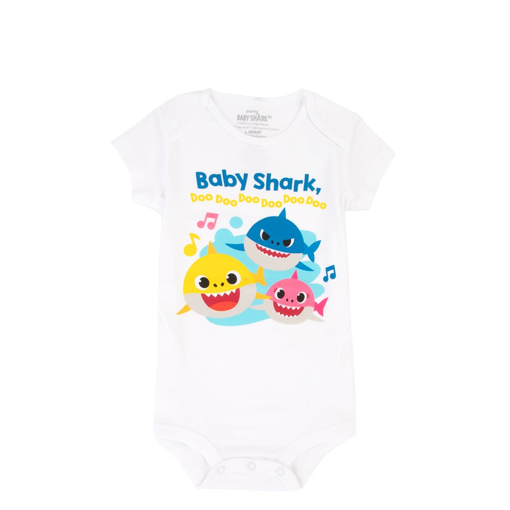 Baby Shark Snap Tee - Baby - White