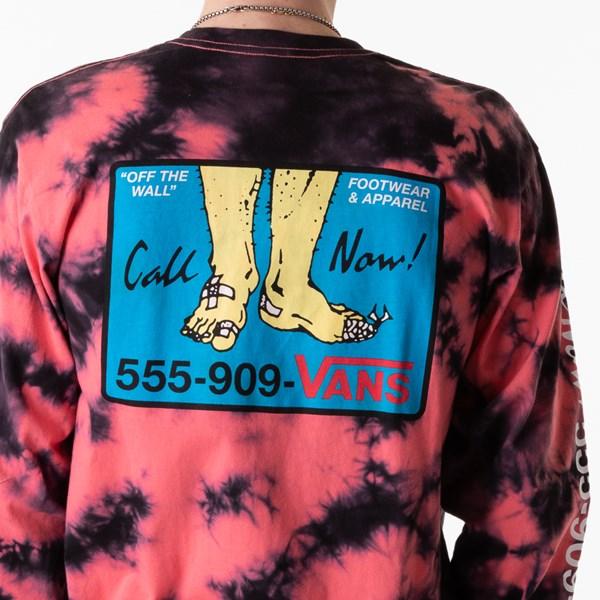 alternate view Mens Vans Man I Need Vans Long Sleeve Tee - Calypso Coral Tie DyeALT1D