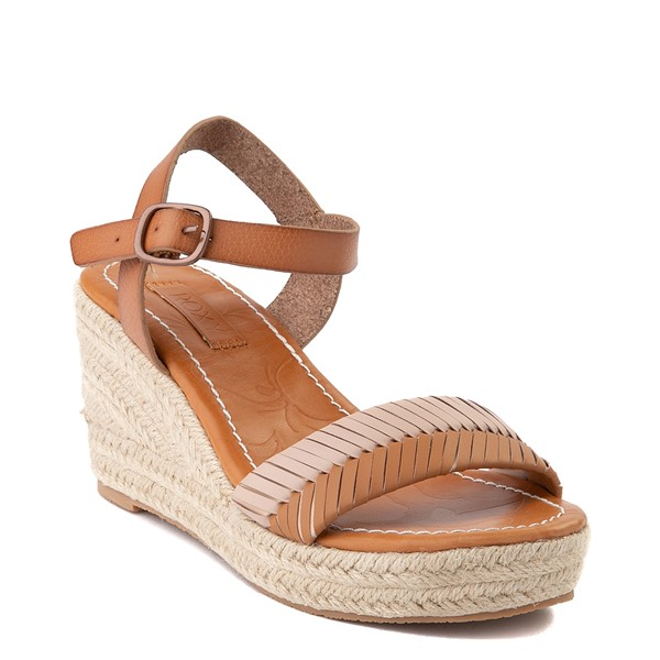alternate view Womens Roxy Gabrielle Wedge Sandal - TanALT1