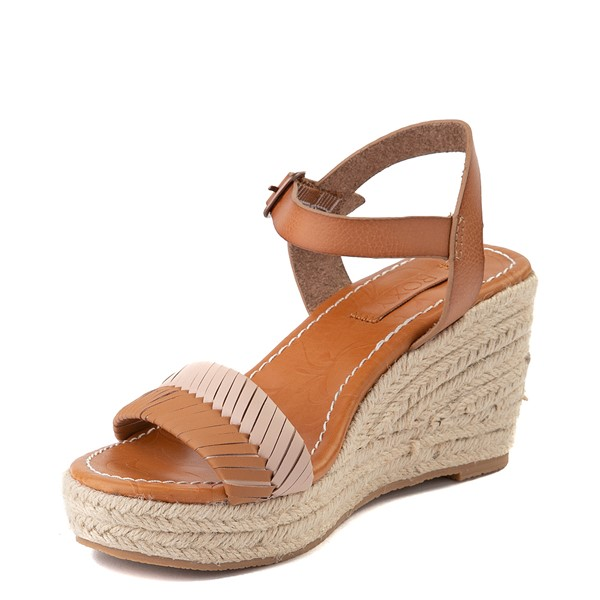 alternate view Womens Roxy Gabrielle Wedge Sandal - TanALT3
