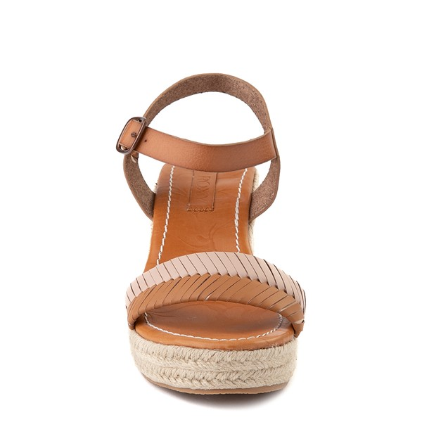 alternate view Womens Roxy Gabrielle Wedge Sandal - TanALT4