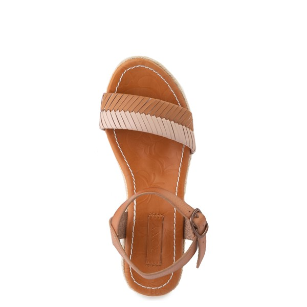 alternate view Womens Roxy Gabrielle Wedge Sandal - TanALT4B