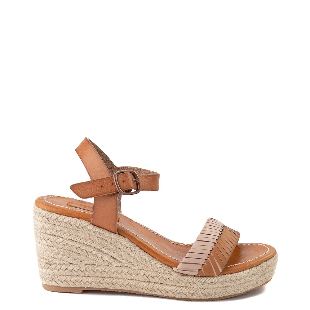 Womens Roxy Gabrielle Wedge Sandal - Tan
