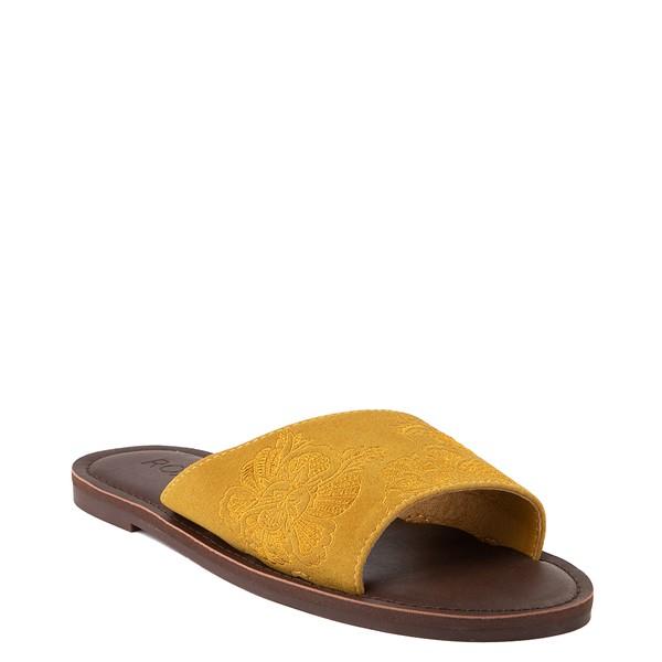 alternate view Womens Roxy Helena Slide Sandal - MustardALT1