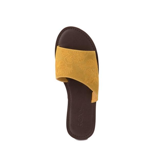 alternate view Womens Roxy Helena Slide Sandal - MustardALT4B