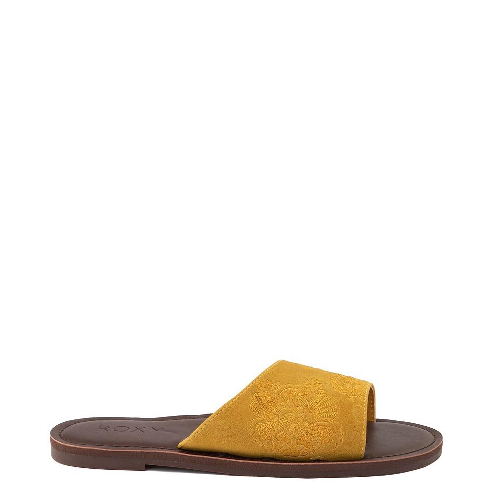 Womens Roxy Helena Slide Sandal - Mustard