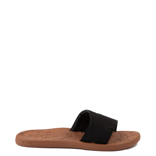 Womens Roxy Yvonne Slide Sandal - Black