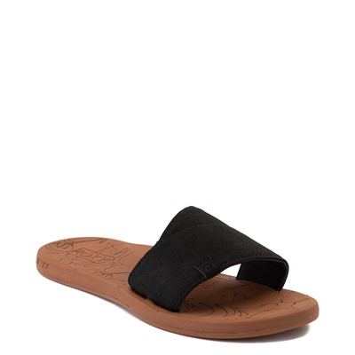Alternate view of Womens Roxy Yvonne Slide Sandal - Black