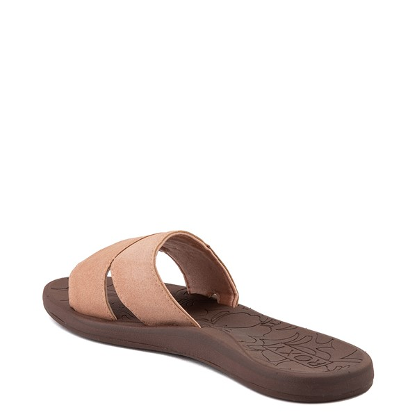 alternate view Womens Roxy Yvonne Slide Sandal - BlushALT2