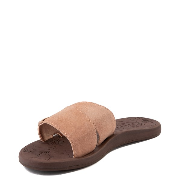 alternate view Womens Roxy Yvonne Slide Sandal - BlushALT3