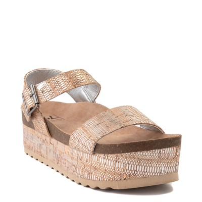 Alternate view of Womens Dirty Laundry Palms Platform Sandal - Natural / Silver