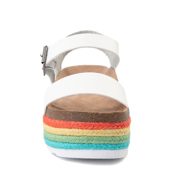 alternate view Womens Dirty Laundry Palms Platform Sandal - White / MultiALT4