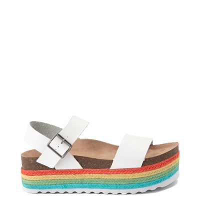 Main view of Womens Dirty Laundry Palms Platform Sandal - White / Multi