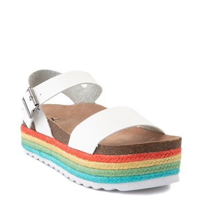 Alternate view of Womens Dirty Laundry Palms Platform Sandal - White / Multi