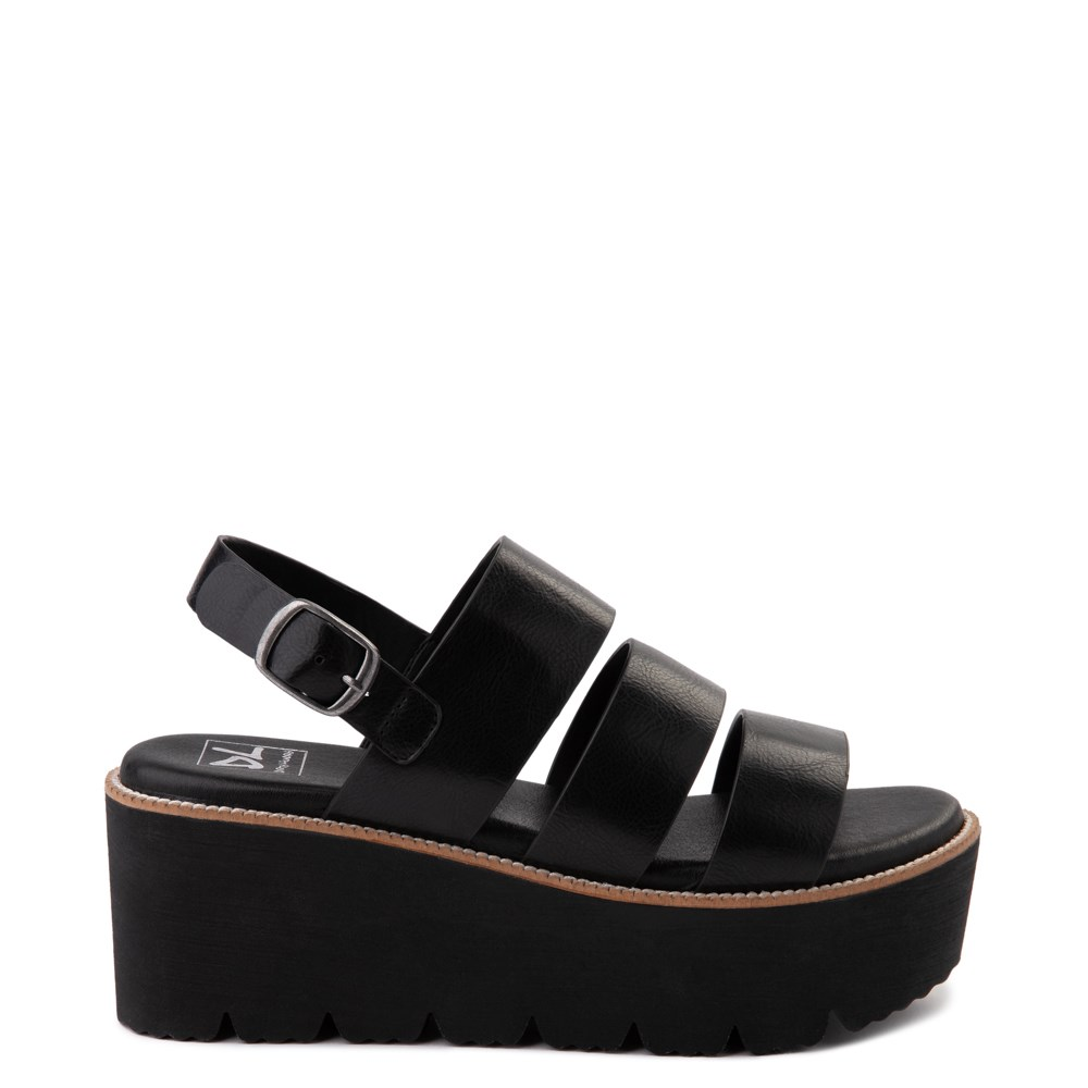 Womens Dirty Laundry Pendulum Platform Sandal - Black