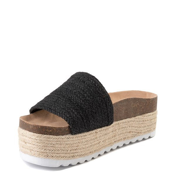 alternate view Womens Dirty Laundry Palm Desert Platform Slide Sandal - BlackALT3