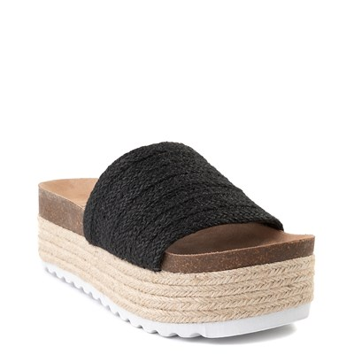 Alternate view of Womens Dirty Laundry Palm Desert Platform Slide Sandal - Black