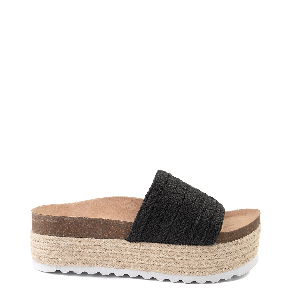 Womens Dirty Laundry Palm Desert Platform Slide Sandal - Black